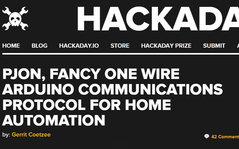 Hackaday PJON blogpost with raging trolls
